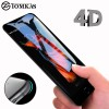 Screen Protector / Tempered Glass - Tomkas 4D Cold Carving 3D Curved Edge Tempered Glass for iPhone X/XS - Black