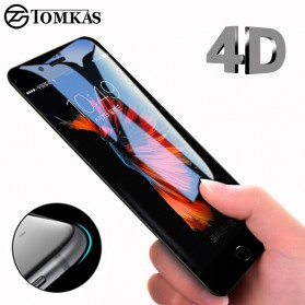 Tomkas 4D Cold Carving 3D Curved Edge Tempered Glass for iPhone X/XS - Black