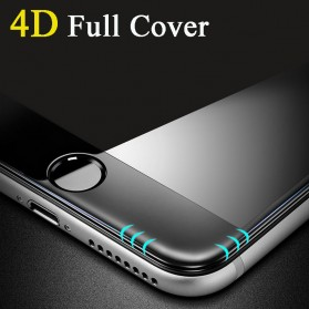 Tomkas 4D Cold Carving 3D Curved Edge Tempered Glass for iPhone X/XS - Black - 3