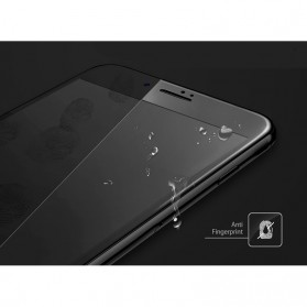 Tomkas 4D Cold Carving 3D Curved Edge Tempered Glass for iPhone X/XS - Black - 7