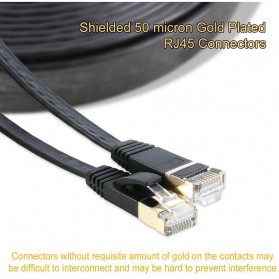 Kabel Ethernet LAN Network RJ45 Cat7 10 Meter - NW107 - Black - 2
