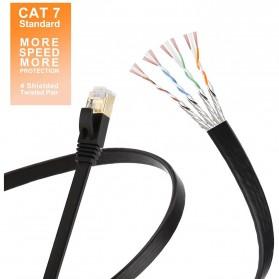 Kabel Ethernet LAN Network RJ45 Cat7 10 Meter - NW107 - Black - 4