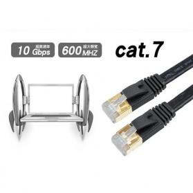 Kabel Ethernet LAN Network RJ45 Cat7 10 Meter - NW107 - Black - 6