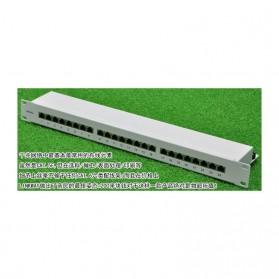 Linkwylan Cat6 Patch Panel 24 Port for 1U 19 Inch Server Rack - TC-P24C6AHS - Black - 8