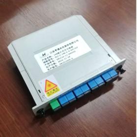 HTGD 1 x 8 SC/UPC Branching Fiber Optical Box Splitter Cassette Card Insertion Type - FF500135