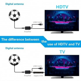 Powstro Antena TV Digital DVB-T2 High Gain 25dB with Amplifier - TFL-D143 - Black - 11