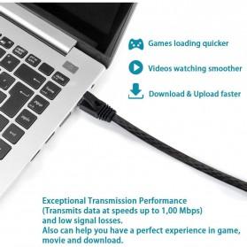 Ninth World Kabel Ethernet LAN Network RJ45 Cat6 UTP 10Gbps 30 Meter - SZ-6FLT - Black - 6