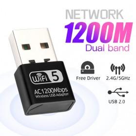 Fenvi Mini USB WiFi Transmitter Receiver Dongle Adapter 802.11ac 1200Mbps - AC1200 - Black