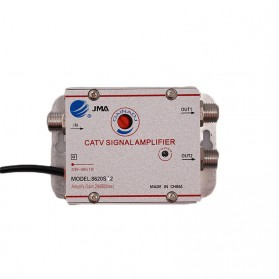 JMA Penguat Sinyal Antena TV CATV Amplifier Signal Booster 2 Way 1 in 2 Out - 8620SA2 - Silver