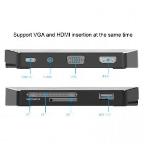 EASYA USB Type C to HDMI + VGA + Card Reader + USB Hub + PD Charge - C24 - Black - 2