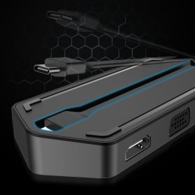 EASYA USB Type C to HDMI + VGA + Card Reader + USB Hub + PD Charge - C24 - Black - 4