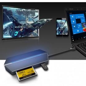 EASYA USB Type C to HDMI + VGA + Card Reader + USB Hub + PD Charge - C24 - Black - 6