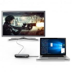 EASYA USB Type C to HDMI + VGA + Card Reader + USB Hub + PD Charge - C24 - Black - 7