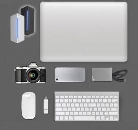 EASYA USB Type C to HDMI + VGA + Card Reader + USB Hub + PD Charge - C24 - Black - 8