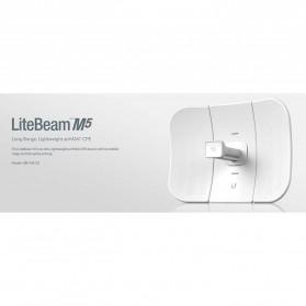 Ubiquiti LiteBeam M5 Long-Range Lightweight airMAX CPE High-Gain Directional Antenna 23dBi - LBE-M5-23 - White - 5