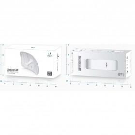 Ubiquiti LiteBeam M5 Long-Range Lightweight airMAX CPE High-Gain Directional Antenna 23dBi - LBE-M5-23 - White - 8