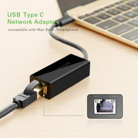 UGreen USB Type C to RJ45 Ethernet LAN Adapter - 30287 - Black - 4