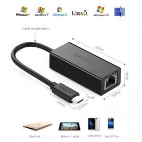 UGreen USB Type C to RJ45 Ethernet LAN Adapter - 30287 - Black - 5