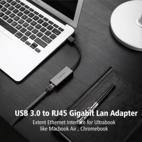 UGreen USB 3.0 to RJ45 Ethernet LAN Adapter - 20256 - Black - 2