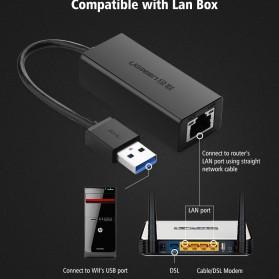 UGreen USB 3.0 to RJ45 Ethernet LAN Adapter - 20256 - Black - 6