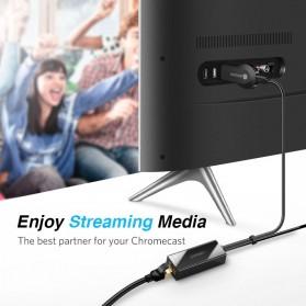 UGreen Chromecast Ethernet LAN Adapter USB 2.0 to RJ45 - 30985 - Black - 3