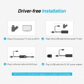 UGreen Chromecast Ethernet LAN Adapter USB 2.0 to RJ45 - 30985 - Black - 4