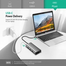 UGREEN USB Type C LAN Adapter RJ45 with USB Hub 3.0 3 Port - CM141 - Silver - 4