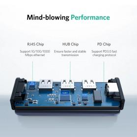 UGREEN USB Type C LAN Adapter RJ45 with USB Hub 3.0 3 Port - CM141 - Silver - 5