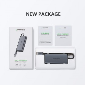 UGREEN USB Type C LAN Adapter RJ45 with USB Hub 3.0 3 Port - CM141 - Silver - 8