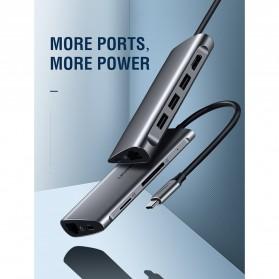 UGREEN USB Type C LAN Adapter + HDMI + Card Reader + USB Hub 3 Port - CM121 - Gray - 2