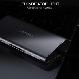 UGREEN USB Type C LAN Adapter + HDMI + Card Reader + USB Hub 3 Port - CM121 - Gray - 8