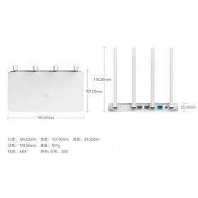 Xiaomi WiFi 3C Wireless Router 802.11ac 300Mbps with 4 Antennas - White - 3
