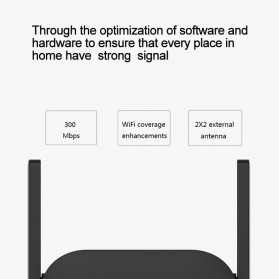 Xiaomi Pro WiFi Amplify 2 Range Extender Repeater 300Mbps - R03 - Black - 5