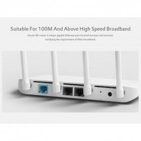 Xiaomi Mi Router 4 Dual Band Wireless Gigabit IEEE 802.11AC 4 Antena - R4 - White - 5