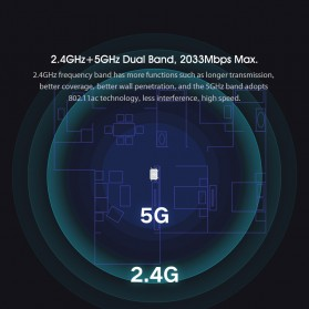 Xiaomi Redmi WiFi Router Gigabit AC2100 2033Mbps with 6 High Gain Antena - White - 6