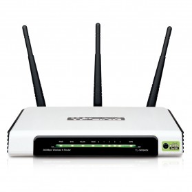 TP-LINK Wireless N Router 300Mbps with Detachable Antenna - TL-WR941ND - White