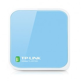 TP-LINK N150 Wireless Nano Travel Router - TL-WR702N - White