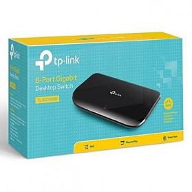 TP-LINK 8-Port Gigabit Desktop Switch - TL-SG1008D - Black - 4