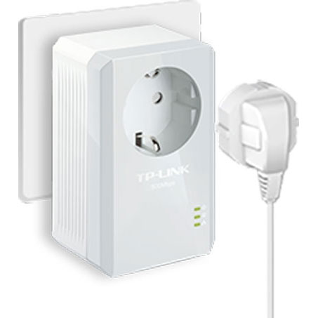 tp link av600 powerline adapter with ac pass through tl pa4010pkit white. Black Bedroom Furniture Sets. Home Design Ideas