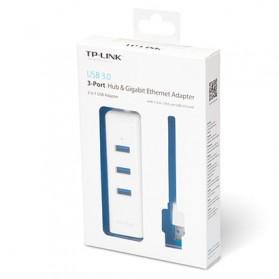 TP-Link Gigabit Ethernet LAN Adapter with 3 Port USB 3.0 Hub - UE330 - White - 4