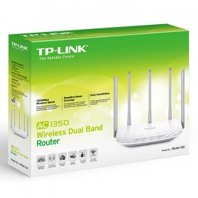 TP-LINK AC1350 Wireless Dual Band Router - Archer C60 - White - 4
