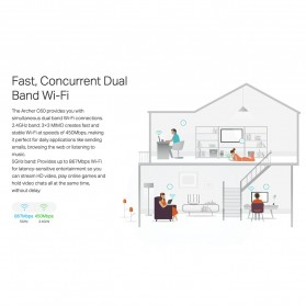 TP-LINK AC1350 Wireless Dual Band Router - Archer C60 - White - 6