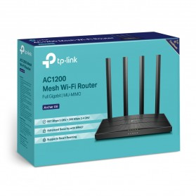 TP-LINK AC1200 Wireless MU-MIMO Gigabit Router - Archer A6 - Black - 8
