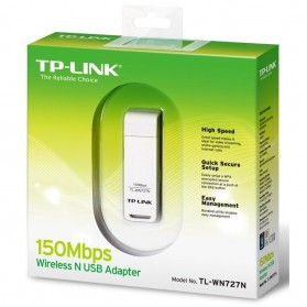 TP-LINK Wireless N USB Adapter 150Mbps - TL-WN727N - White - 3