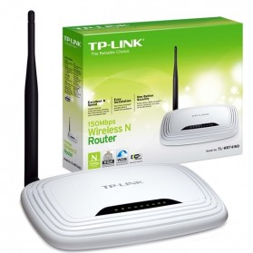 TP-LINK Wireless N Router 150Mbps with Detachable Antenna- TL-WR741ND - White
