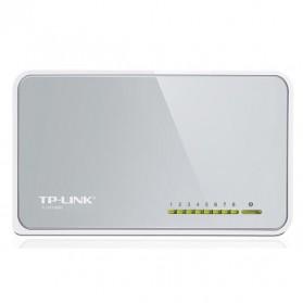 TP-LINK Desktop Switch 8-Port 10/100Mbps - TL-SF1008D Ver.8 - White