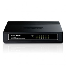 TP-LINK Desktop Switch 16-Port 10/100Mbps - TL-SF1016D - Black