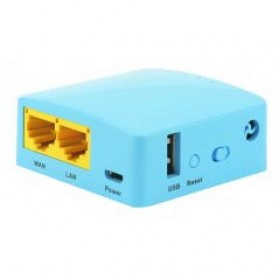 GL.iNet OpenWRT Mini Smart Router DDRII 128MB - GL-MT300A - Blue