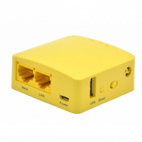 GL.iNet OpenWRT Mini Smart Router DDRI 64MB - GL-MT300N - Yellow