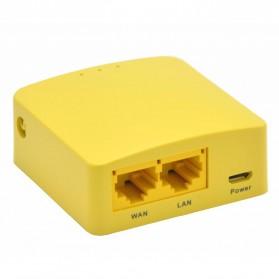 GL.iNet OpenWRT Mini Smart Router DDRI 64MB - GL-MT300N - Yellow - 2